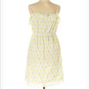 Old Navy Yellow & Green Pattern Dress